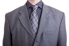 Businessman in gray suit Stock Photo