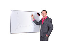 Businessman in a gray suit Stock Images