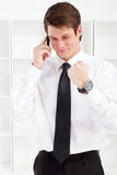 Businessman great news Stock Photos