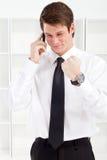 Businessman great news Stock Photos