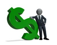 Businessman green dollar Stock Photos