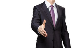 Businessman greeting Stock Photography