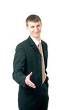 Businessman greeting Royalty Free Stock Image