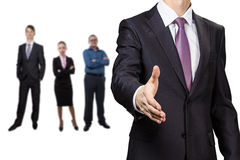 Businessman greeting Stock Photos