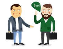 Businessman greeting partner vector concept. Business meeting. C Royalty Free Stock Images