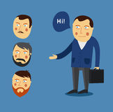 Businessman greeting partner vector concept. Business meeting. C Stock Photo