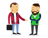 Businessman greeting partner vector concept.  Stock Photography
