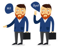 Businessman greeting partner vector concept Royalty Free Stock Photography