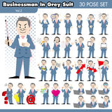 Businessman in grey suit2 Royalty Free Stock Photo