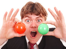 Businessman with  group ball. Stock Photography