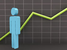 Businessman and Growth Chart Royalty Free Stock Photo