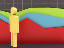 Businessman and Growth Chart Stock Photography