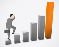 Businessman growth Royalty Free Stock Photography