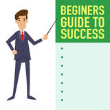 Businessman Guide To Success Royalty Free Stock Image