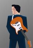 Businessman guitar Stock Images