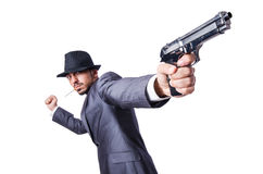 Businessman with gun Royalty Free Stock Images