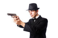 Businessman with gun Stock Image