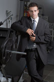 Businessman at the Gym Royalty Free Stock Images