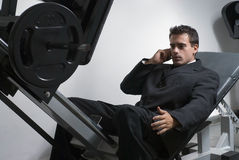 Businessman at the Gym Stock Photo