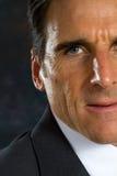 Businessman Half Face Stock Images