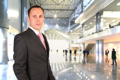 Businessman in the hall Royalty Free Stock Photo