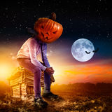 Businessman on halloween Royalty Free Stock Images
