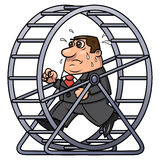Businessman in a hamster wheel 2 Stock Images