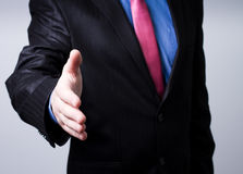 A businessman hand Royalty Free Stock Image