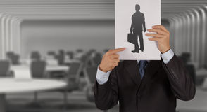 Businessman hand with book choosing people Royalty Free Stock Image