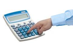 Businessman hand calculator isolated Stock Photos
