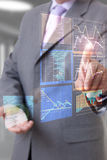 Businessman hand chart Stock Photography