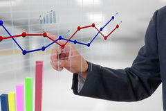 Businessman hand chart Royalty Free Stock Photography