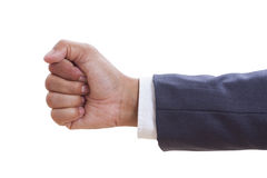 Businessman hand with clenched a fist, Royalty Free Stock Image