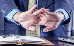 Businessman hand Stock Photos