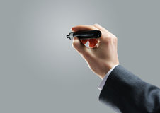 Businessman hand drawing Stock Image