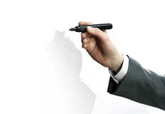 Businessman hand drawing Royalty Free Stock Images