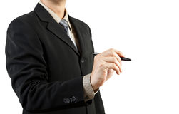 Businessman hand drawing Stock Photos