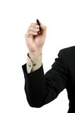 Businessman hand drawing Royalty Free Stock Photos