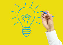 Businessman hand drawing big idea concept Royalty Free Stock Photo