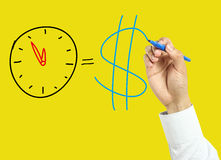 Businessman hand drawing time is money concept Stock Image