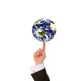Businessman hand and Earth Royalty Free Stock Photography