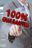 Businessman hand Guarantee Stock Photography