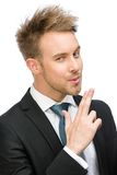 Businessman hand gun gesturing Royalty Free Stock Photo