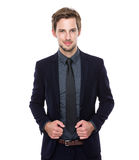 Businessman hand hold with collar Royalty Free Stock Photography