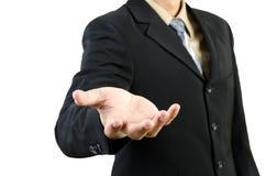 Businessman hand holding blank Royalty Free Stock Photo