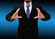 Businessman hand holding blank royalty free stock photos