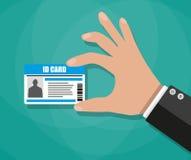 Businessman Hand holding Id card Stock Photos