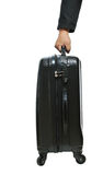 Businessman hand with luggage Royalty Free Stock Photography