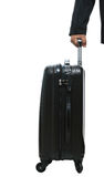 Businessman hand with luggage Stock Photos