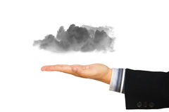 Businessman hand offer the cloud Royalty Free Stock Image